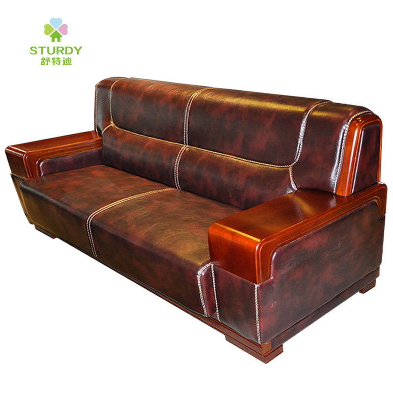 Shute di home parlor reception parlor sofa leather office sofa modern tea a few combinations can be customized promotions