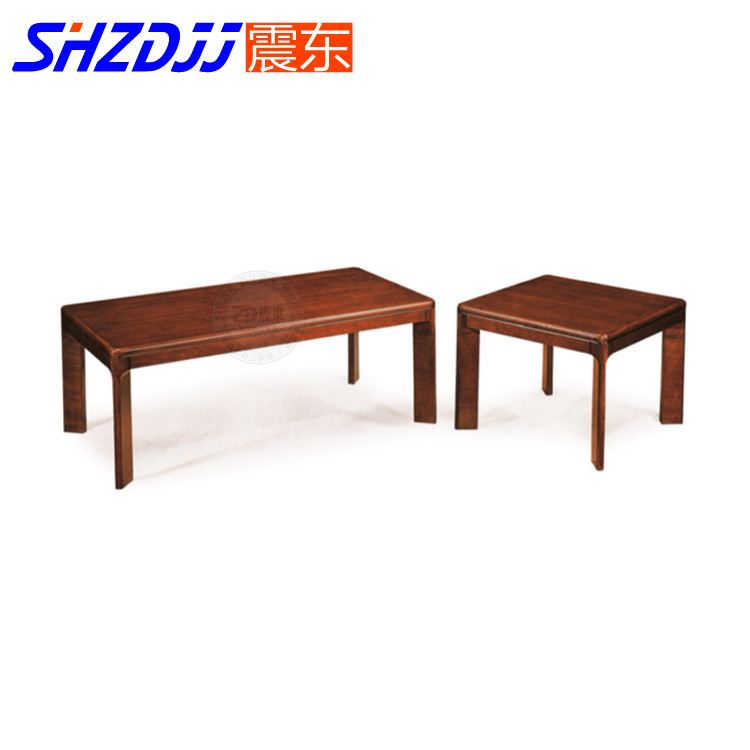 Shzdjj office living room modern fashion square table minimalist wood coffee table small coffee table mahogany color wood table coffee table