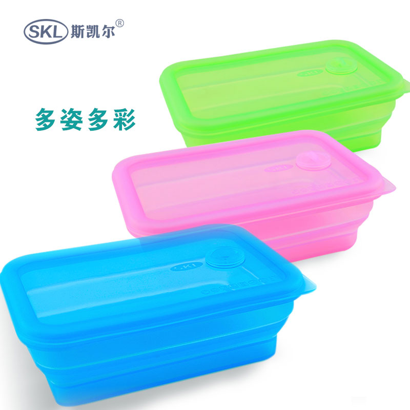 Si kaier folding folding bowl lunch box portable microwave lunch box lunch box outdoor travel cutlery set cutlery