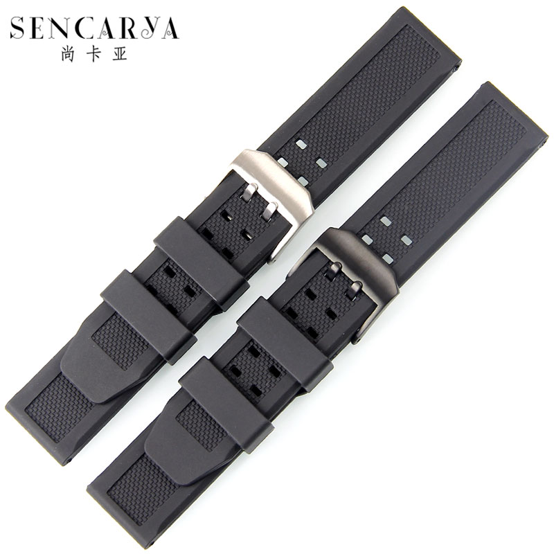 Silicone rubber strap can substitute still kaya lumei north and other 7251 | 3050 | 3051 | 6402 23mm
