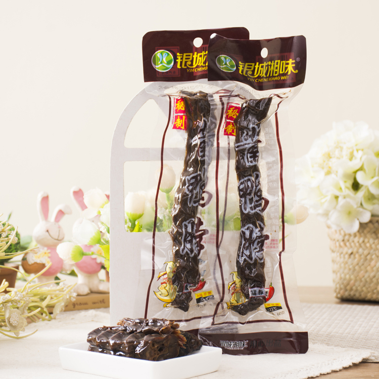 Silver city hunan flavor duck neck 60g * 1 root dried duck neck hunan specialty casual snack snacks spicy food Specialty