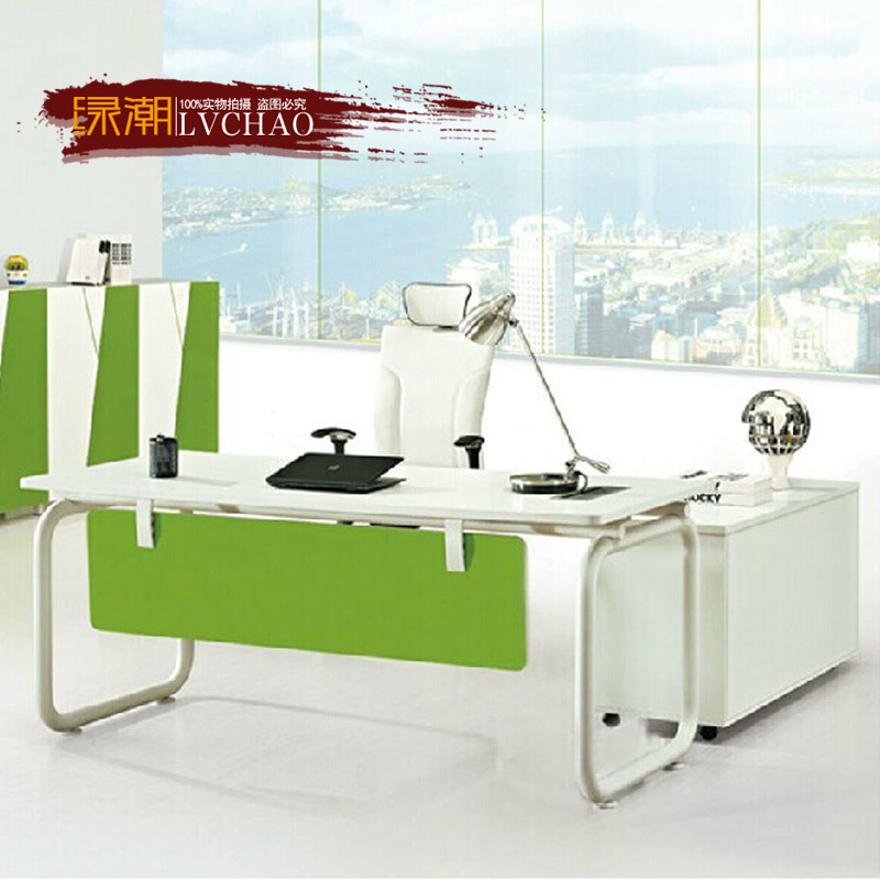 Simple and stylish office furniture desk manager boss desk desk desk steel wooden table female secretary general conference table boss desk office desk