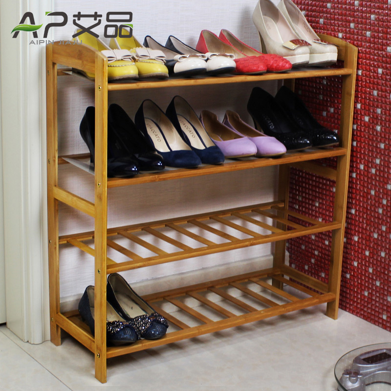 Simple shoe shoe multilayered wood dust shoe creative small bamboo shoe rack storage racks special economic