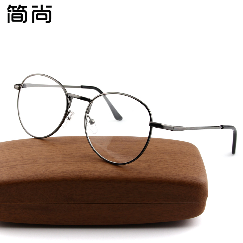 Simple yet retro round frame metal thin frame glasses frame finished mirror decorative mirror can be equipped with myopia female literary tide loaded Lenses