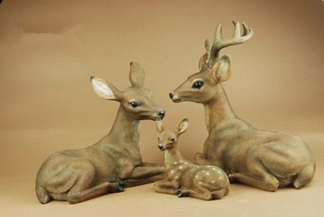 Simulation animal deer deer ornaments resin garden landscape sculpture garden ornaments outdoor garden furnishings