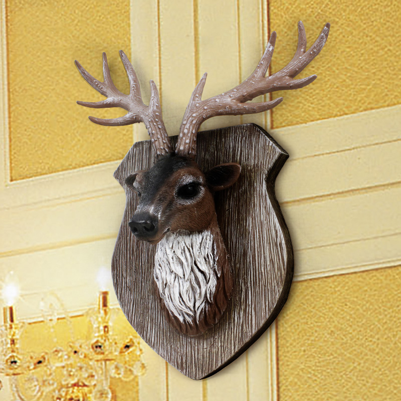 Simulation deer animal head wall mural wall hangings european creative home wall decorations hanging wall hangings decorated bar