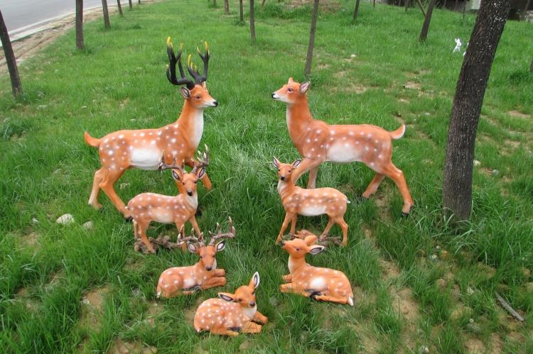 Simulation deer ornaments villa courtyard garden ornaments outdoor sculpture garden wedding landscape sketch