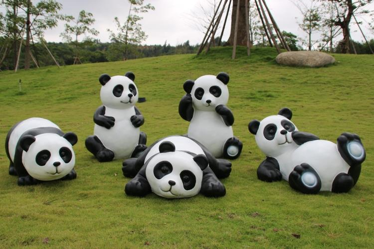 Simulation frp panda kindergarten outdoor landscape sculpture garden ornaments simulation animal ornaments