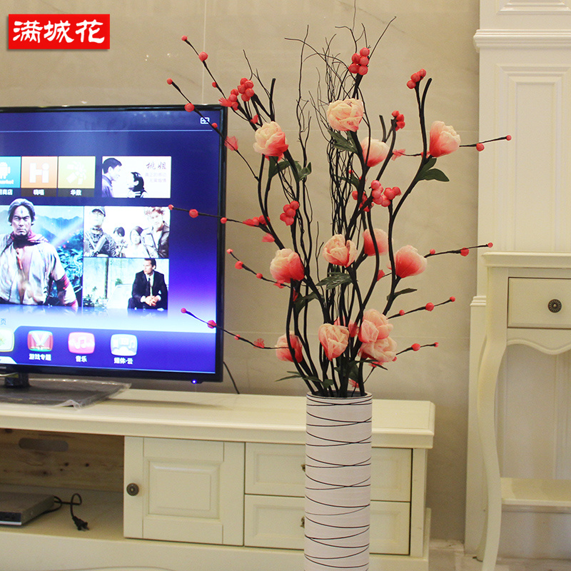 Amazing Get Quotations · Simulation Lunar Vein Dried Flowers Dried Flower  Arrangement Artificial Flowers Roses Living Room Floor Indoor Home
