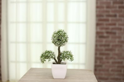 Simulation of indoor potted plants simulation small bonsai plants potted green plants fake flower pot ornaments clothing accessories
