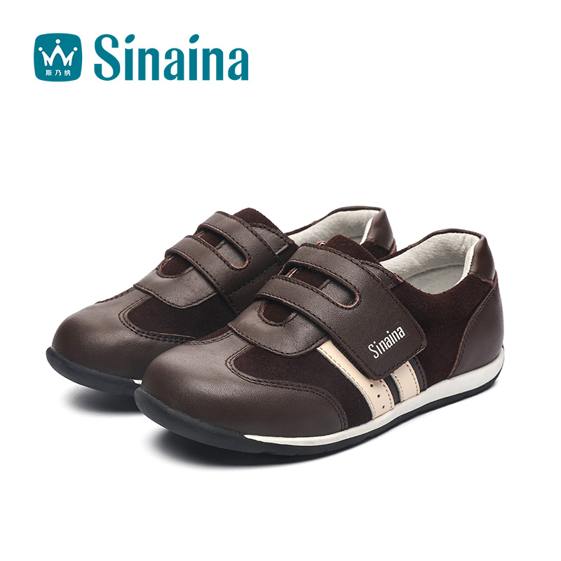 Sinai satisfied shoes boys 2016 autumn new leather casual shoes male children shoes big virgin leather shoes