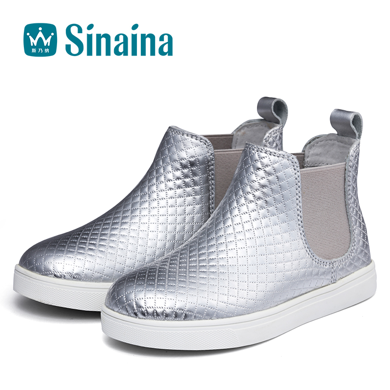 Sinai satisfied shoes girls shoes 2016 new winter high shoes within riga velvet warm shoes women set foot children