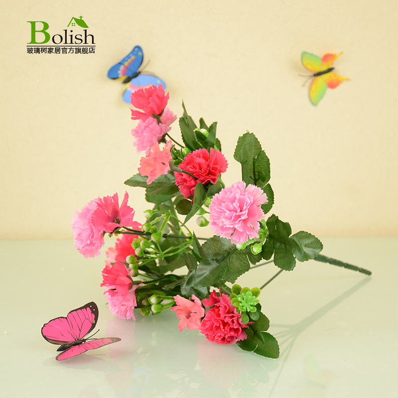Single branch artificial flowers artificial flower bouquet of plastic flowers artificial flowers to bundle small decorative cloth flowers dried flowers silk cloth flowers