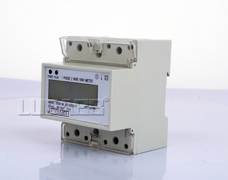 Single phase slideways lcd electric form phase electronic energy meter household meter 220 v