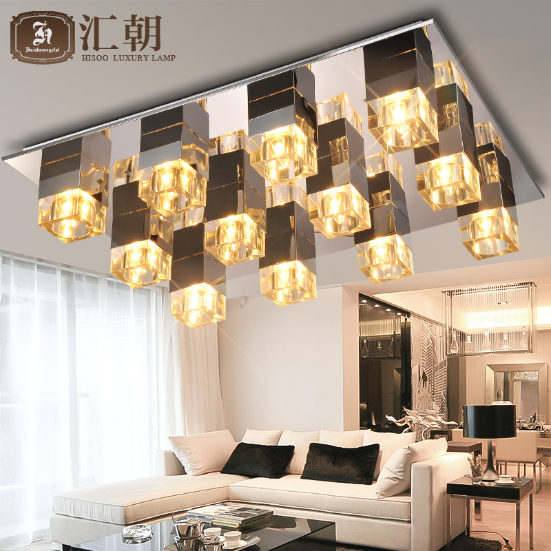 Living Room Lamp Crystal Lamp Round Ceiling Lamp Led Modern Minimalist Atmosphere European Bed Restaurant Lamp Complete Range Of Articles Ceiling Lights
