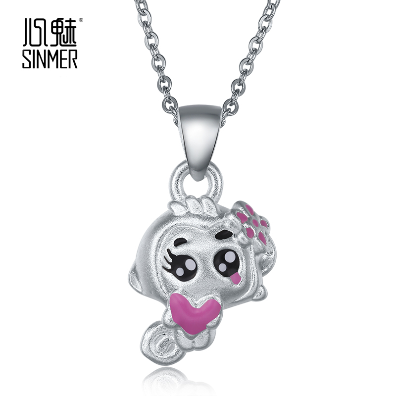Sinmer/heart charm s925 silver pendant silver pendant necklace female silver pendant couple gifts to give as gifts