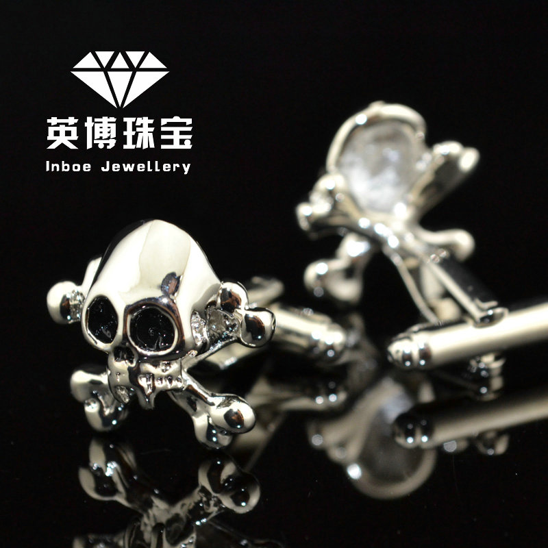 Skull shape the new inbev cufflinks silver cufflinks men's cufflinks french shirt cufflinks cufflinks