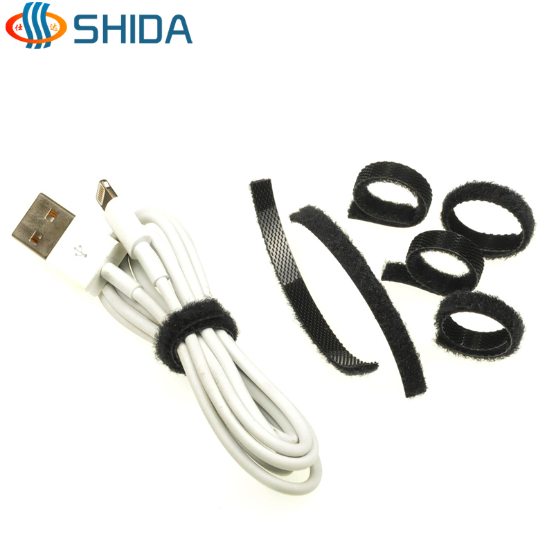 Slim back to back velcro velcro cable ties cable data cable charger cable management with cable ties 5mm width of the line