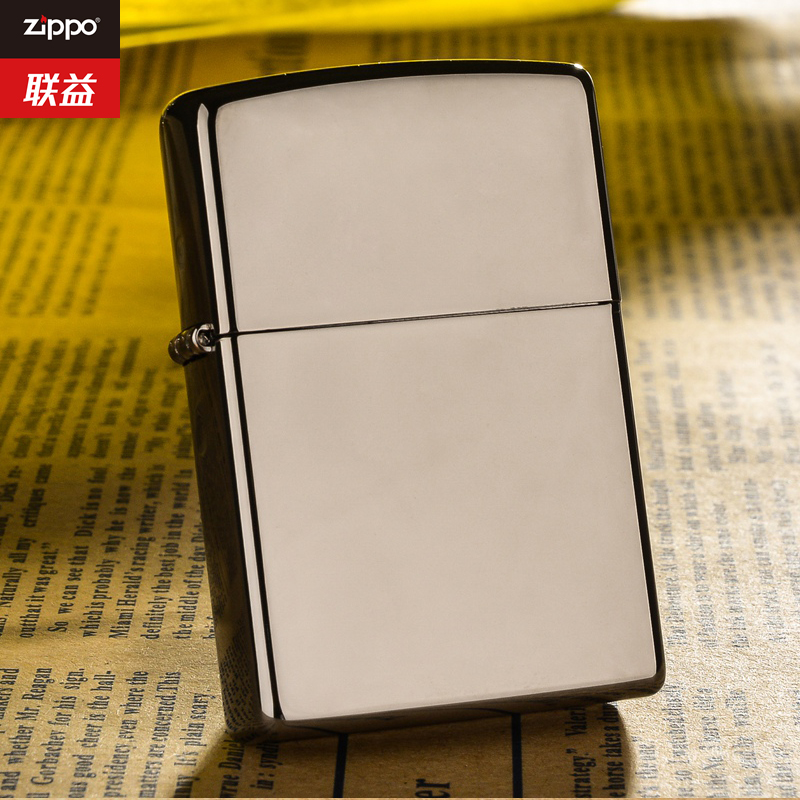 Slim genuine windproof zippo lighters genuine original authentic black ice 150 counters limited zppo