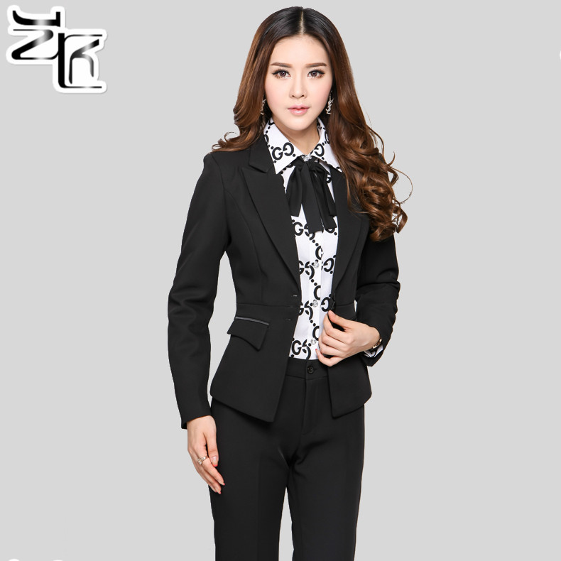 Get Quotations · Slim Suits Ladies Wear Long Sleeve Suit Suits Overalls  Female Professional Interview Ms. Fitted Office