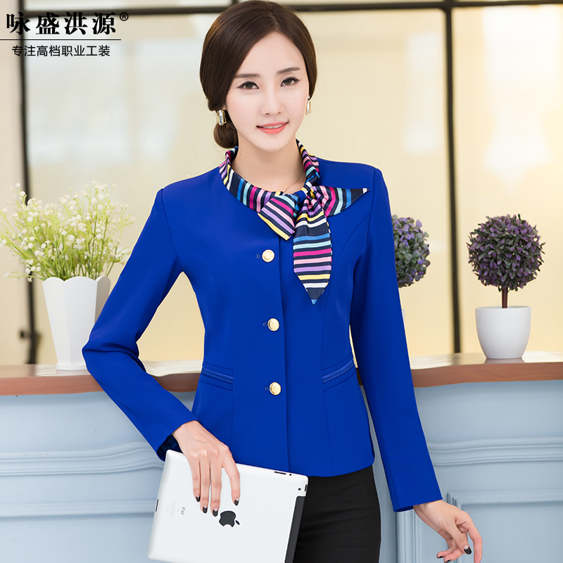 Slim women wear skirt suits interview ms. sleeved clothing hotel uniforms fall and winter suits workers