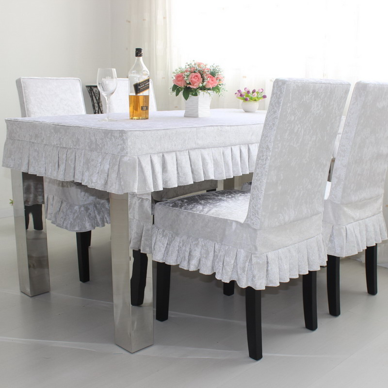 Slip tablecloth table coverings chair package tablecloth tables cover sets of colored ice velvet piece of cloth coverings custom