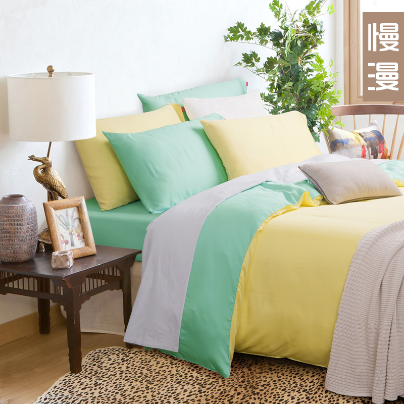 Slow man textile tencel lyocell soft bedding a family of four pure cotton satin bed li style four seasons