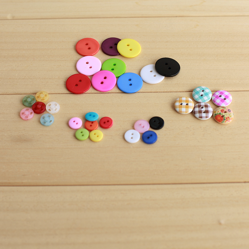 Small round buttons resin buckle clasp buckle wood buckle plastic buckle invisible dark button snap button clothes clothing clothing accessories