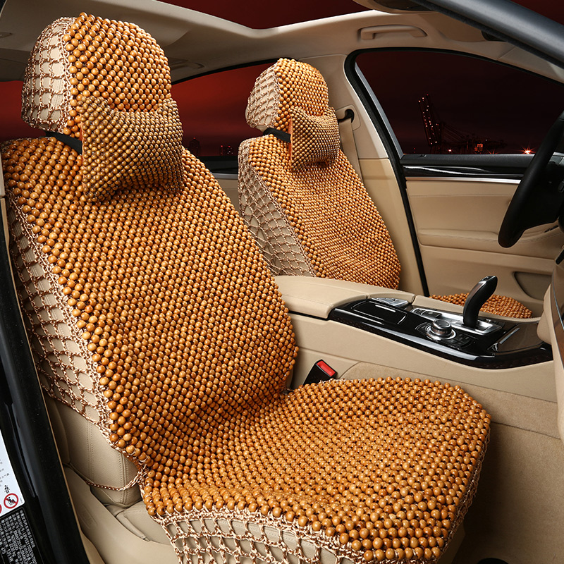 Snow language wooden bead car seat cushion summer sheng road e70 santa fe huatai b11 baolige ikimura