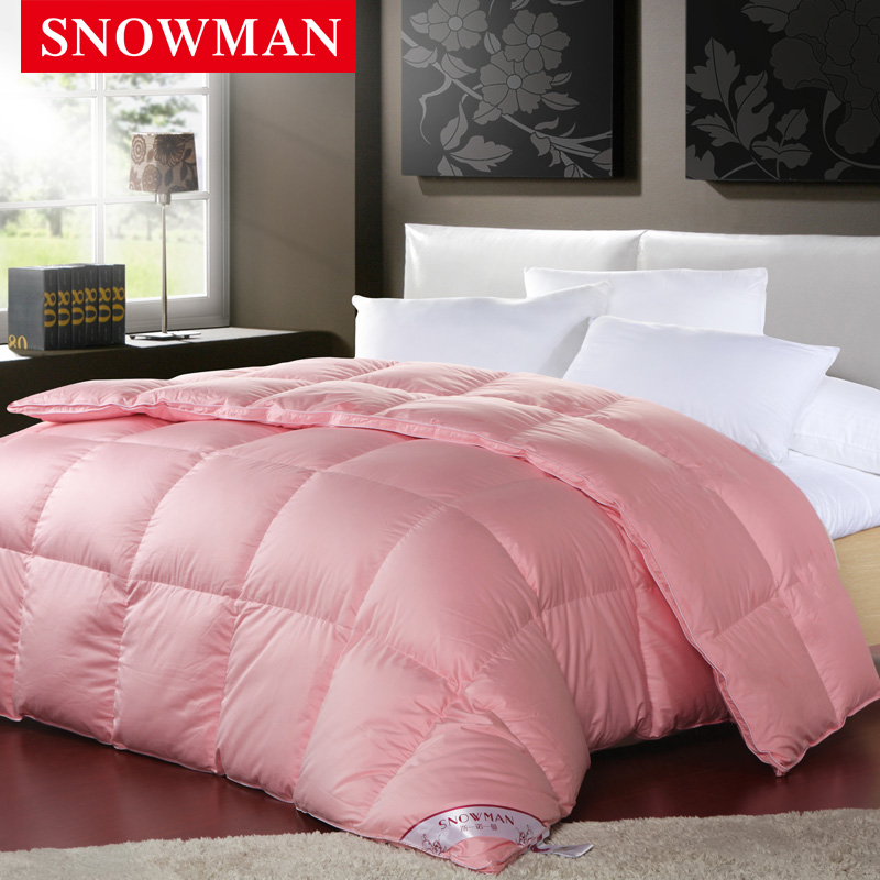 Snowman/adams norman genuine satin 90 white goose down duvet white goose down duvet quilt winter solid specials