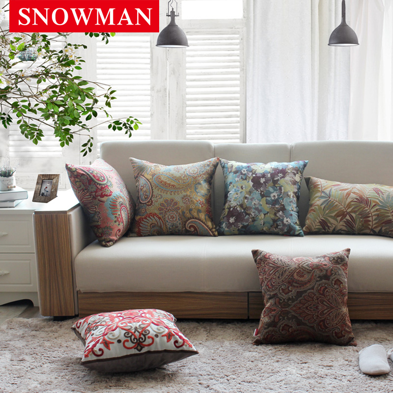Snowman/adams norman sofa pillow bed pillow cushions office car waist lumbar pillow