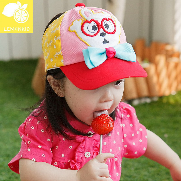 So cute! 2016 new summer clothes for men and women infants and young children empty top hat korean version of the half of children baby sun hat