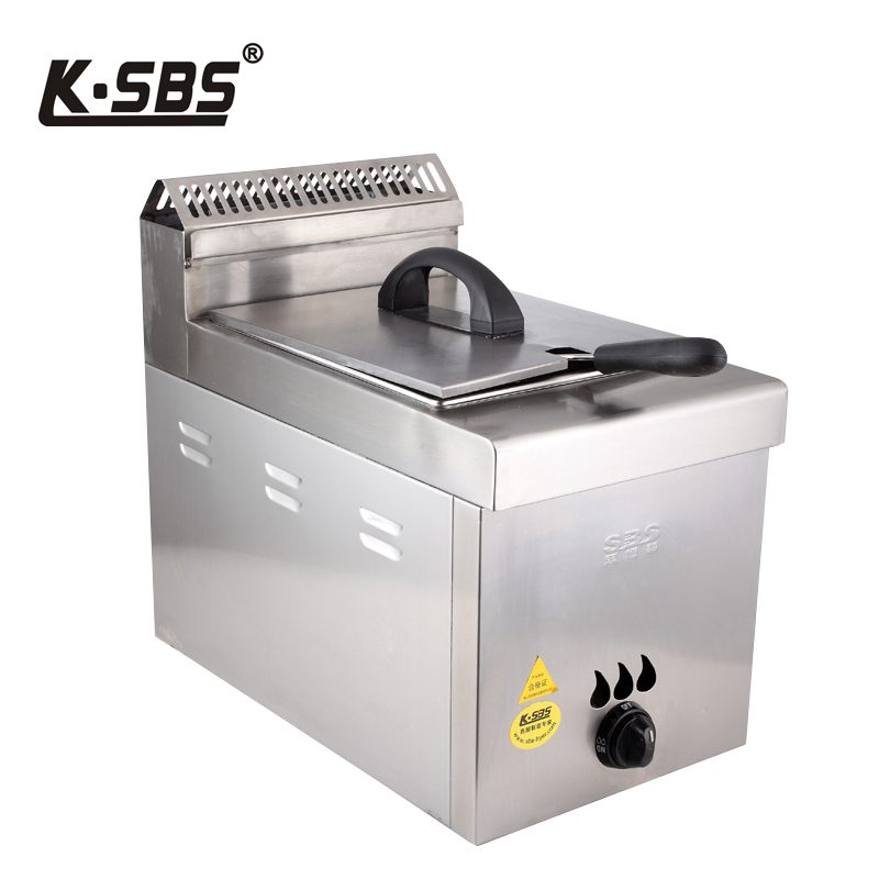 Softbrands poetry commercial gas fryer fryer fryer fryer fries fried fritters single-cylinder 6l capacity