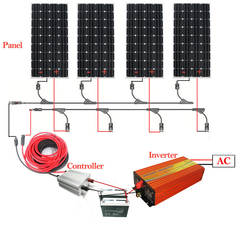 Solar generator home w solar photovoltaic power generation system package 220 v power equipment