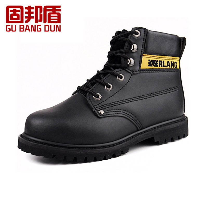 Solid state shield high to help welders smashing anti puncture protective shoes wearable shoes cow leather breathable deodorant baotou steel safety Shoes