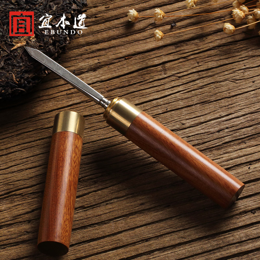 Solid wood rosewood ebony needle tea tea knife to open special pu'er tea knife to pry tea tea tea with zero tea helper