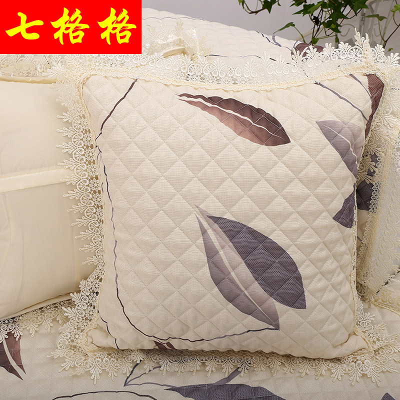 [Soluble edge matching pillowcases] sofa pillow cushion pillow cover sofa cushion lace bud silk pillow