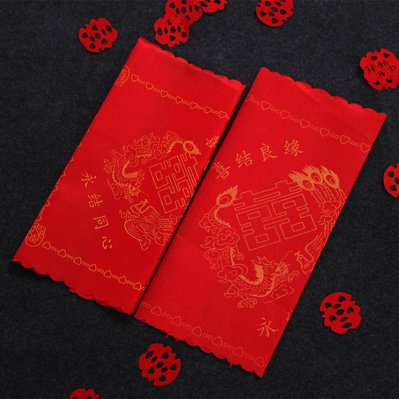 Sonam arranged marriage room decoration wedding supplies wedding bride hi pa red handkerchief handkerchief small square