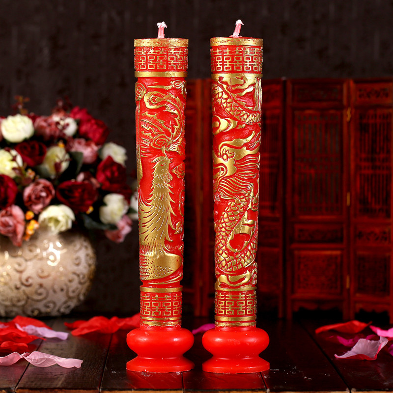 Sonam queen married hi dragon chinese wedding candle wedding candle wedding candle candle wedding supplies hi word