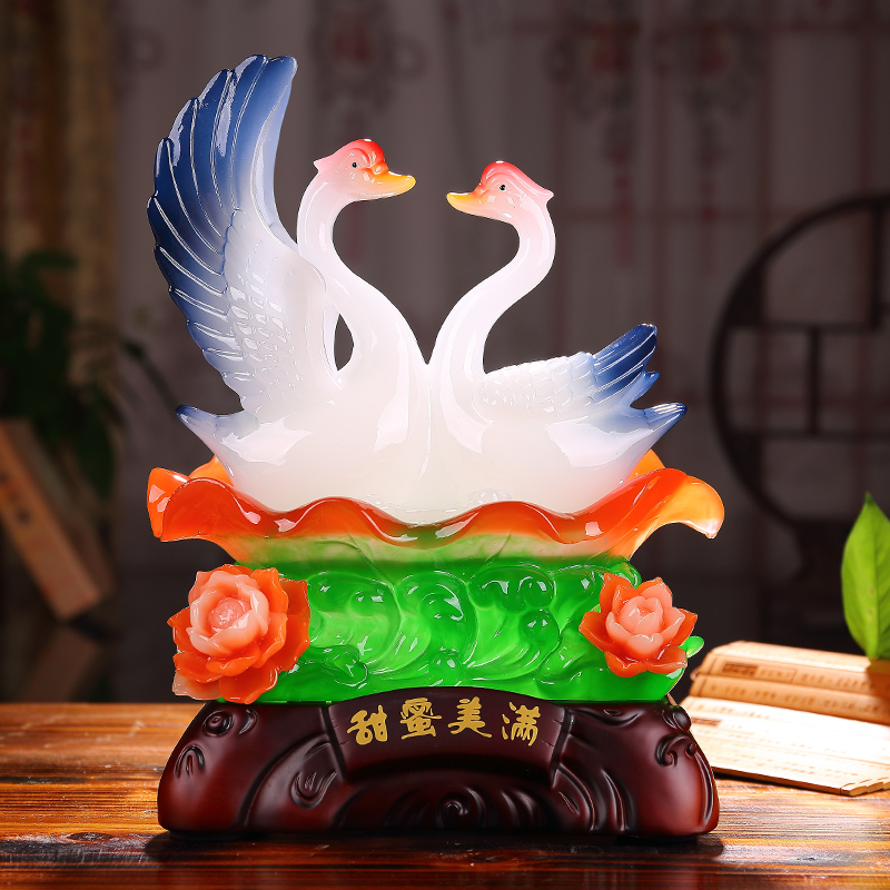 Source ceremony of marriage bainianhaoge swan ornaments home decorations wedding room decorations wedding gift to send to friends