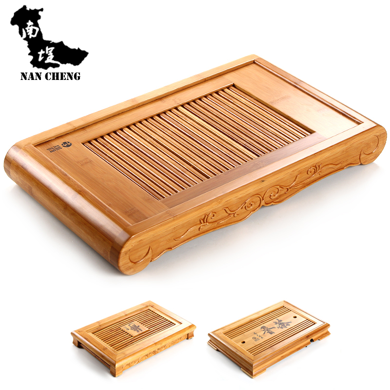 South courtyard tea tray bamboo tea tray tea sea moso bamboo tea tray drawer drain style tea sets tea tray specials