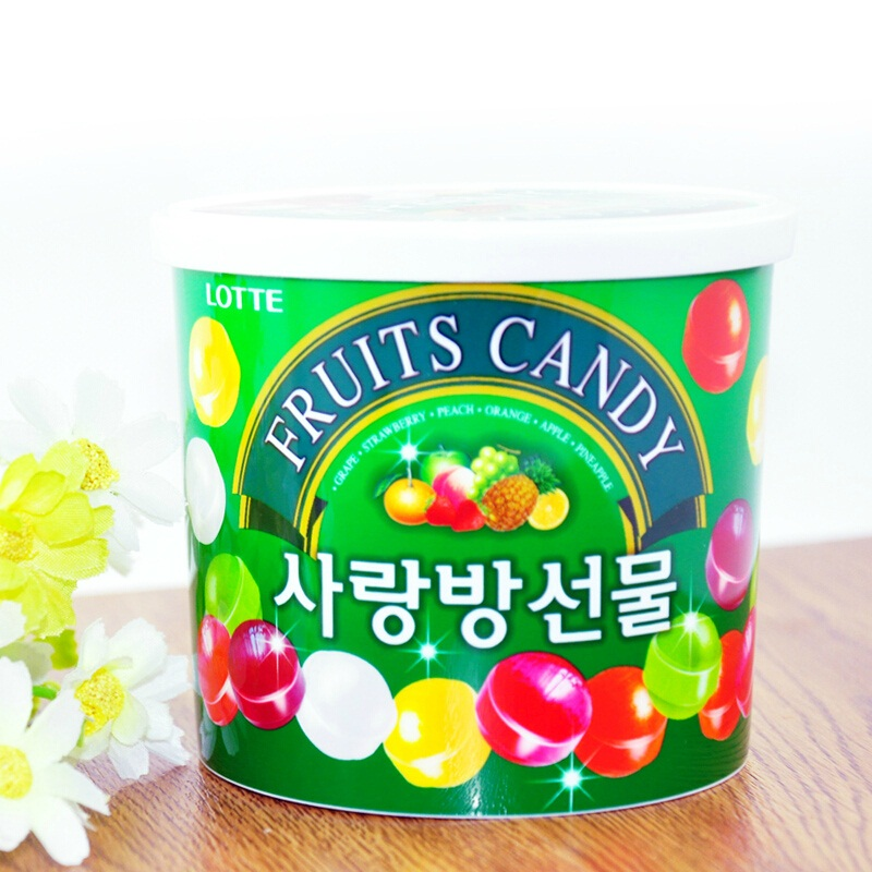 South korea imported candy zero food lotte lotte love colorful sugar fruit sugar candy gift boxes free shipping