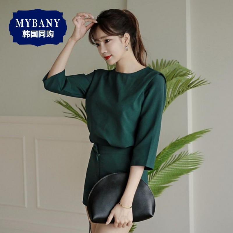South korea MYBANY2016 summer blouses korean version of the sexy women crimp elements and high waist shorts suit