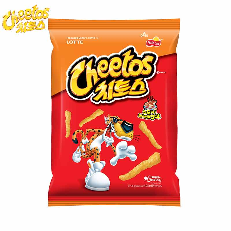 South korean imports of pepsi cheetos corn sticks 88g corn fries barbecue flavor puffed food casual snack snack goods