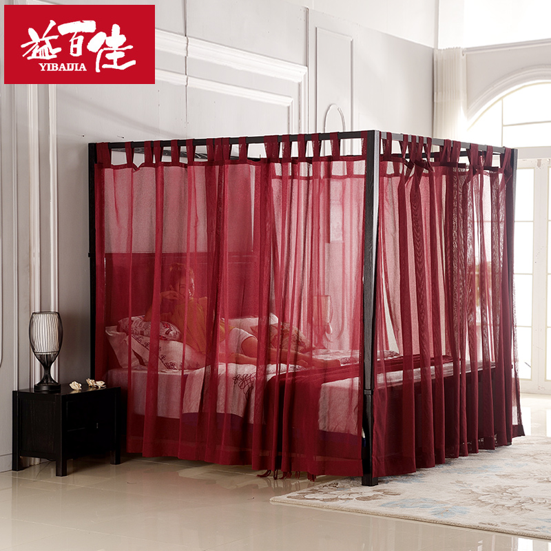 Get Quotations · Southeast asian style chinese american poster bed canopy bed bed mantle mantle velcro white burgundy embroidered & China Canopy Bed China Canopy Bed Shopping Guide at Alibaba.com