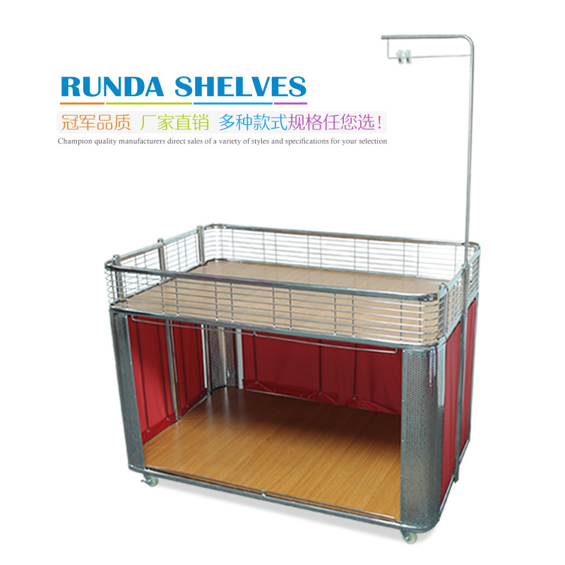Special car supermarket shelves float folding supermarket promotional clothing store shelves float floats wood preservative flower car