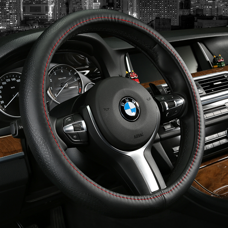 Special cowhide leather steering wheel cover to cover jac refine s3/s5/s2/shuailing t6/and wyatt Rs/eagle