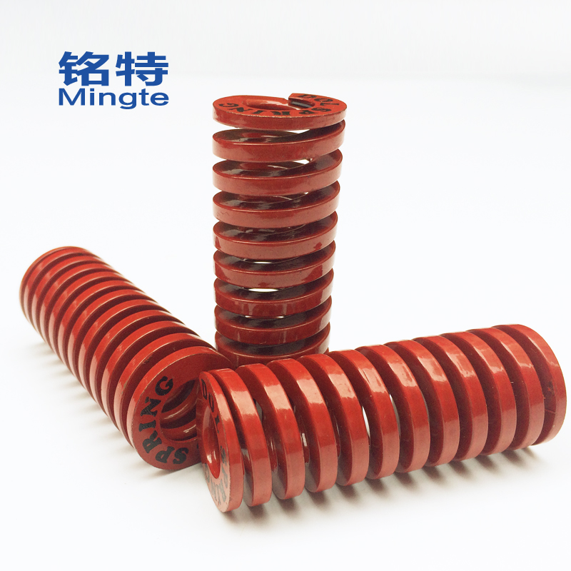 Special ming rectangular spring red yellow blue green brown spring tm 30mm abrasive spring flat wire spring