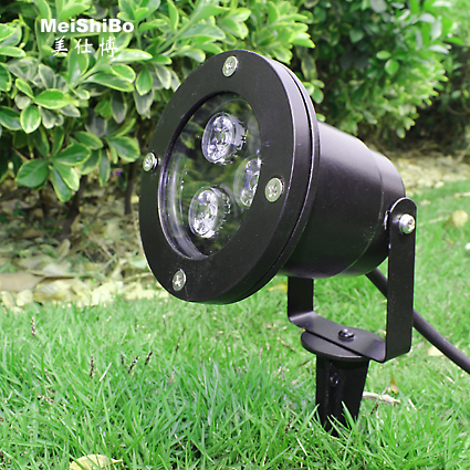 Special offer free shipping 3 w led lights inserted lawn virescence power projection lamp lights floodlights garden lights