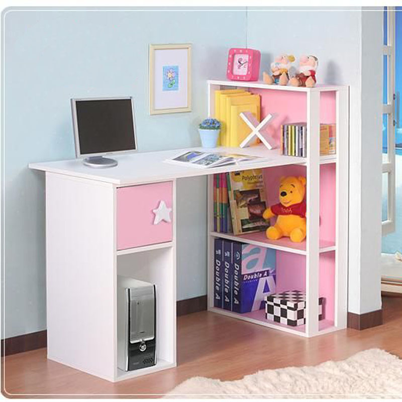 Special offer free shipping simple and stylish home desktop computer desk desk desk combination bookcase desk one computer desk